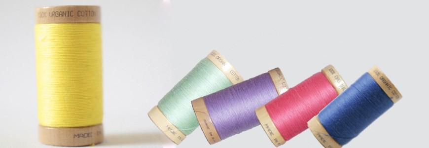 Bobines de fil coton bio