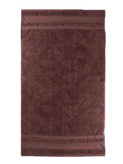 Serviette 100% coton bio 600 g/m2, 70X130 cm, amarante, fabriqué au Portugal, GOTS