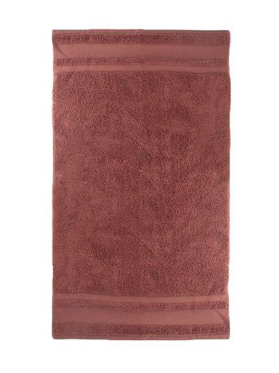 Drap de bain 100% coton bio 600 g/m2, 100X140 cm,rose fumé, fabriqué au Portugal, GOTS