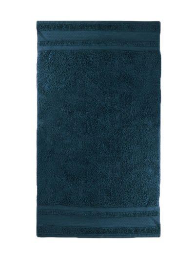 Serviette 100% coton bio 600 g/m2, 70X130 cm, nuit ténebreuse, fabriqué au Portugal, GOTS