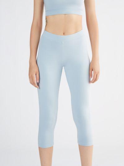 Legging 7/8 95% coton bio et 5% élasthane Bleu clair GOTS