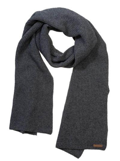 Echarpe unisexe coton/laine bio, GOTS, Gris chiné