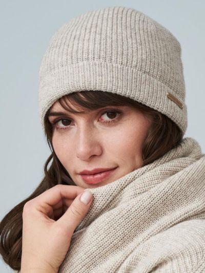 Bonnet coton/laine bio, unisexe, GOTS, Alpaca