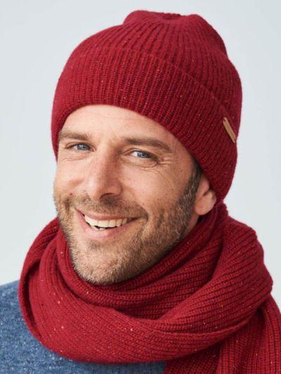 Bonnet unisexe 100% laine bio, Lave, GOTS