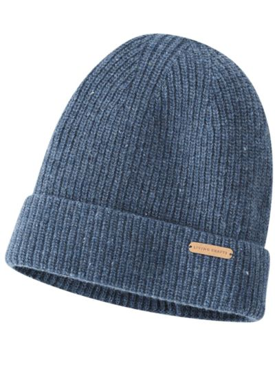 Bonnet 100% laine bio Denim GOTS