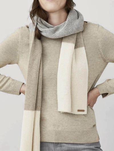 Echarpe 70% laine bio et30% Alpaga ,tricolore GOTS