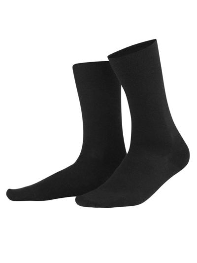 Chaussettes laine/coton bio du 39 au 46 Noir GOTS