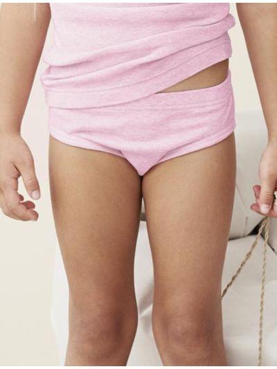 Culotte 100% coton bio de 2 à 13 ans rose chiné GOTS