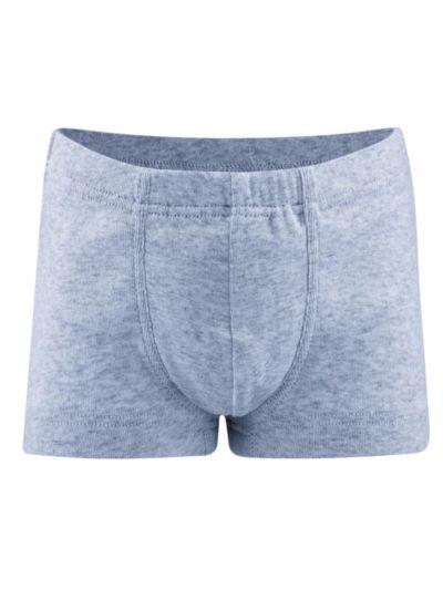 Boxer 100% coton bio de 2 à 13 ans bleu chiné GOTS