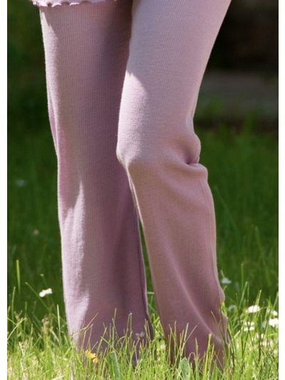 Pantalon de pyjama laine et soie  taille XL lilas
