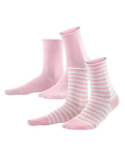 Lot de 2 paires Femme du 35 au 42 Rosé GOTS