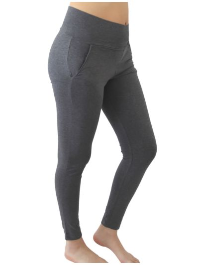 Pantalon sport/yoga coton bio gris chiné