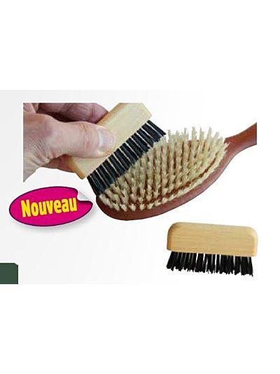 Brosse de nettoyage de brosse à cheveux en bois FSC