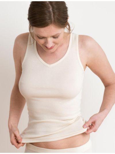 """Ligne """"CLASSIC"""" tricot 100% coton bio sans manches, naturel"""