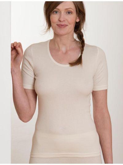 """Ligne """"CLASSIC"""" tricot de peau 100% coton bio femme, naturel"""