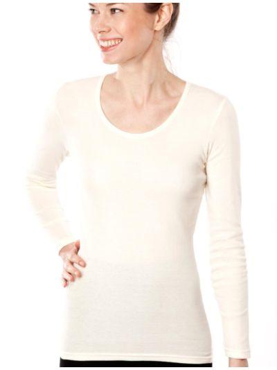 """Ligne """"CLASSIC"""" tricot de peau 100% coton bio ML femme, naturel"""