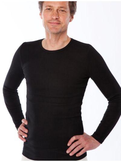 Tricot de peau 100% coton bio  homme ML noir