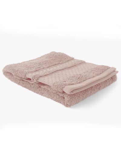 Serviette 100% coton bio 600 g/m2, 50X90 cm, peau de pierre, fabriqué au Portugal, GOTS