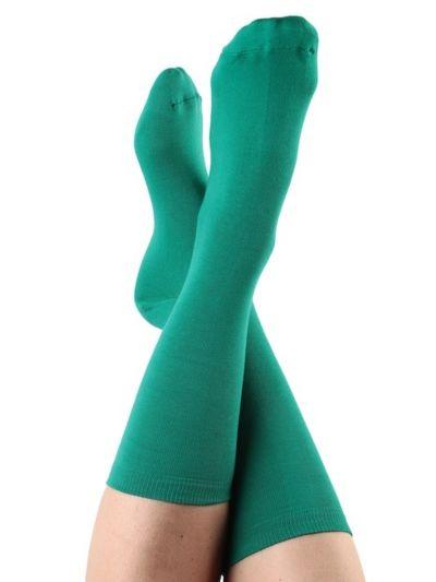 Chaussettes coton bio du 35 au 42 Coloris Vert