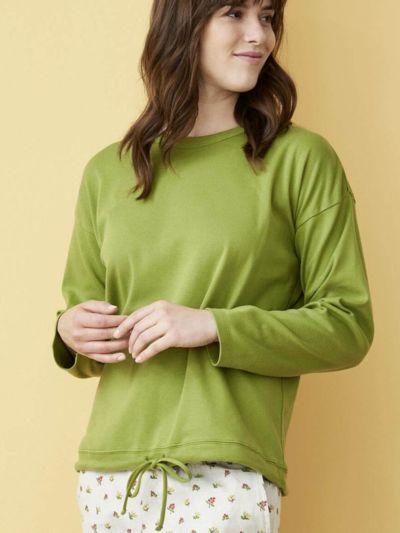 Haut de pyjama 100% coton bio  (150 g/m2) , Avocat, GOTS et VEGAN
