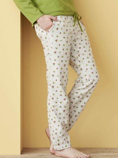 Pantalon de pyjama flanelle 100% coton bio (165 g/m2) GOTS et VEGAN
