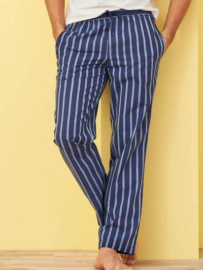 Pantalon de pyjama 100% coton bio, rayé, GOTS et VEGAN