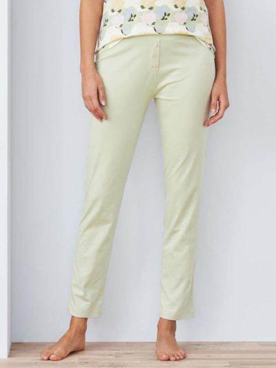 Pantalon de pyjama 100% coton bio, GOTS, uni vert pâle