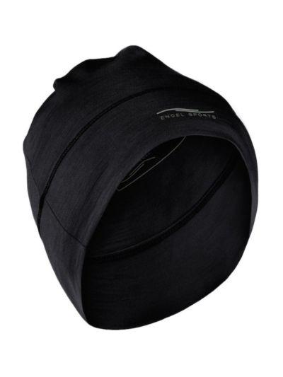 Bonnet laine et soie unisexe Noir