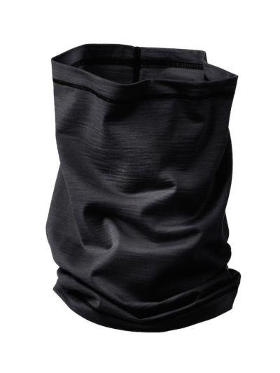 Echarpe tube laine et soie unisexe Noir