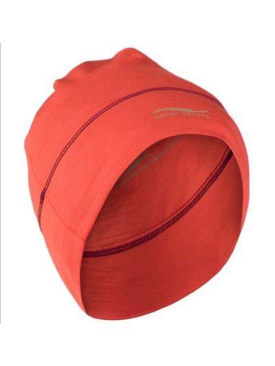 Bonnet laine et soie unisexe Orange