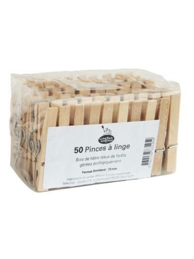 Pinces à linge bois X 50
