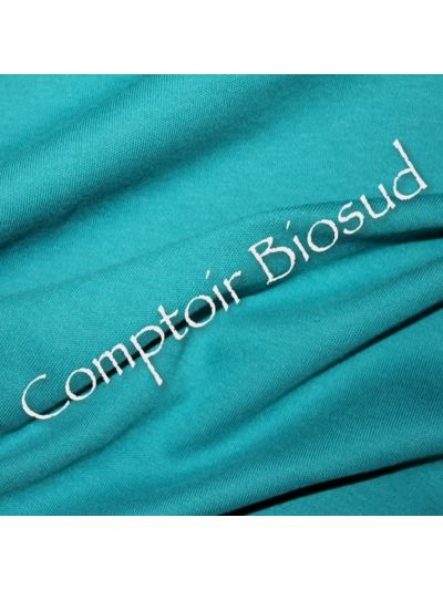 Coupon 115X160 cm Jersey Interlock coton bio, turquoise