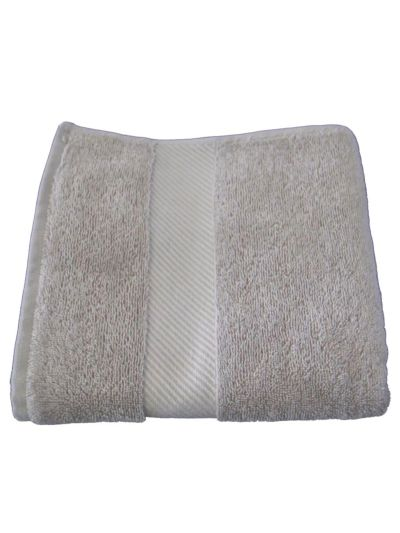 Serviette 100% coton bio 450 gm/m2, 100x50 cm Beige minéral GOTS