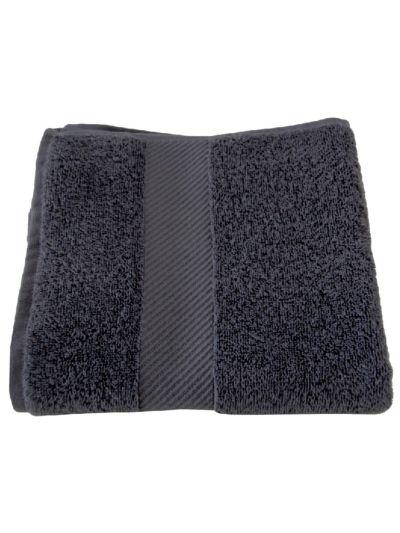 Serviette 100% coton bio 450 gm/m2, 100x50 cm Gris minéral GOTS