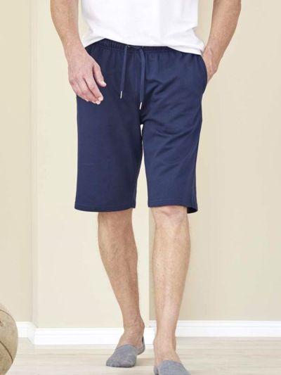 Bermuda sweat léger 100% coton bio, homme, marine, GOTS