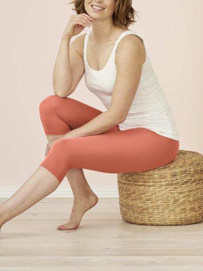 Legging coton bio 3/4 femme Blush GOTS