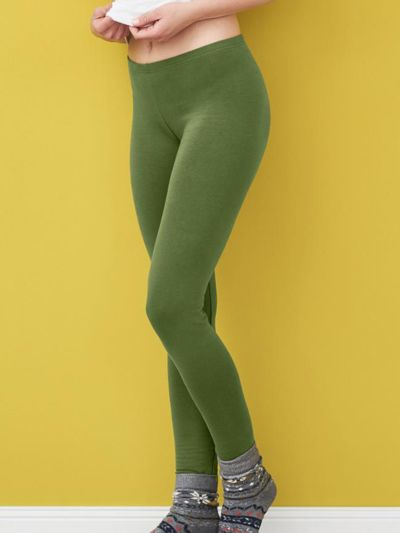 Legging d'hiver coton bio long femme, GOTS, cyprès