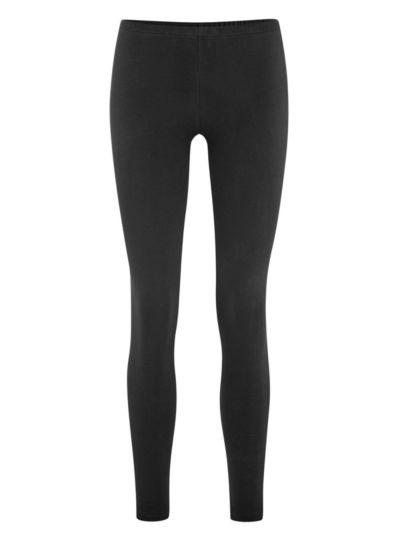 Legging d'hiver coton bio long femme, GOTS, noir