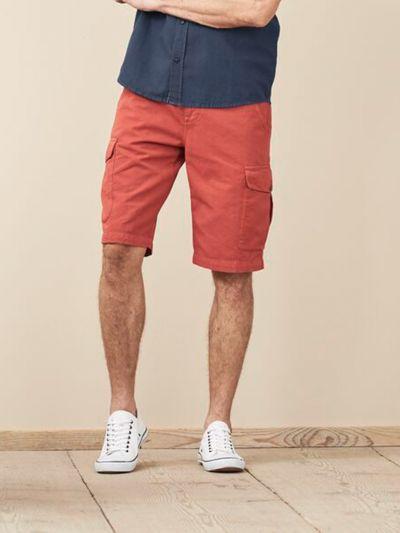 Bermuda en coton/lin bio homme Rosso