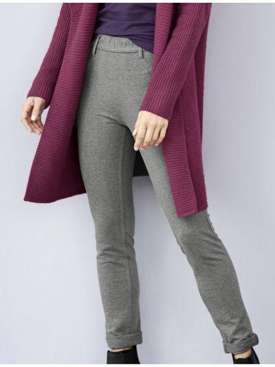 Tregging coton bio femme, gris chiné, GOTS