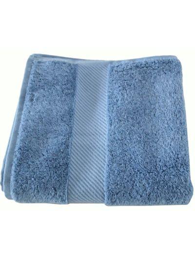 Serviette 100% coton bio 450 gm/m2, 100x50 cm Bleu denim GOTS