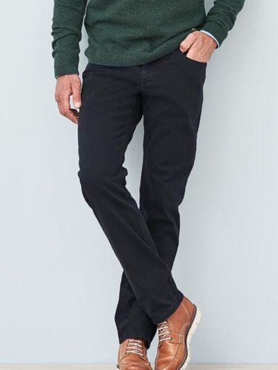 Pantalon coton bio homme, 5 poches, bleu encre, GOTS