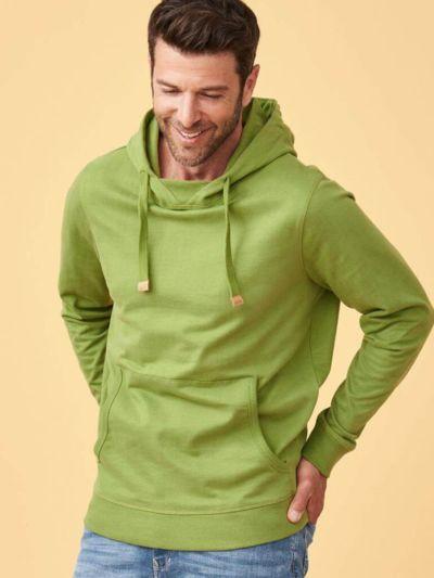 Sweat 100% coton bio Homme à capuche Avocat, certifié GOTS et VEGAN