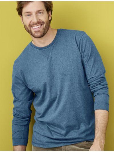 T-shirt 100% coton bio, forme sweat homme, GOTS, pétrole clair