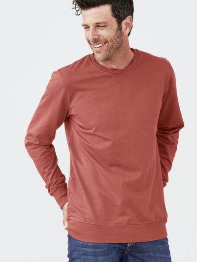 Sweat 100% coton bio homme, rosso, certifié GOTS