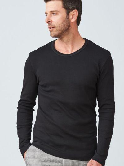 T-shirt 100% coton bio pour homme, ML, Noir GOTS