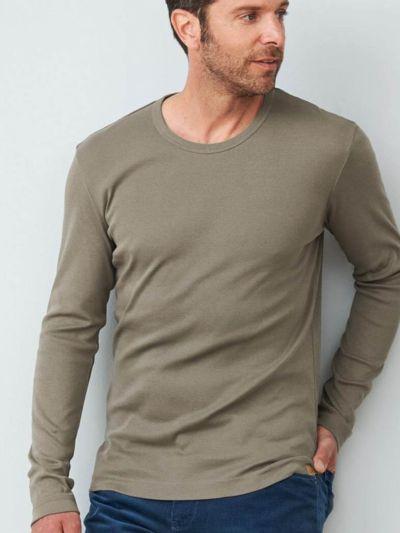 T-shirt 100% coton bio pour homme, ML, morel GOTS
