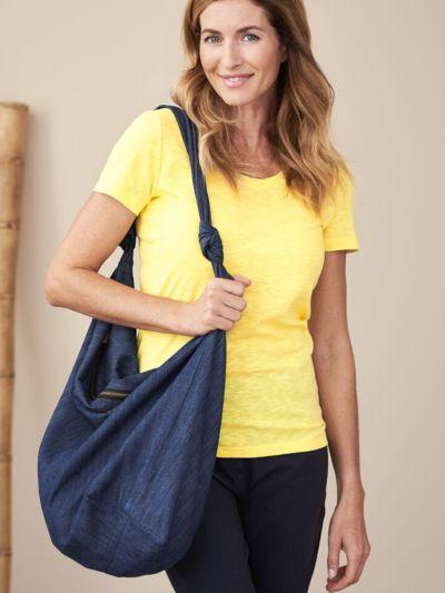T-shirt coton 100% bio Femme col rond, Jaune