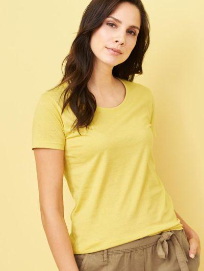 T-shirt en 100% coton biologique MC, Mimosa, GOTS