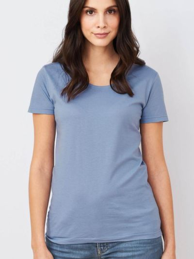 T-shirt en 100% coton biologique MC, Hortensia, GOTS